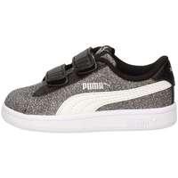 Chaussures Fille Baskets basses Puma 367380-04 Sneakers Enfant Noir Noir