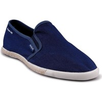 Chaussures Homme Slips on People'Swalk Ruffle polycanvas Bleu