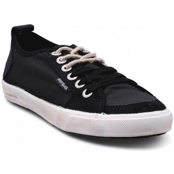 Chaussures Homme Baskets basses People'Swalk Fly suede polycanvas Noir
