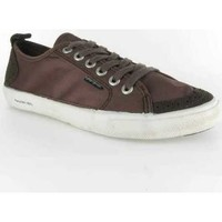 Chaussures Homme Baskets basses People'Swalk Fly suede polycanvas Marron