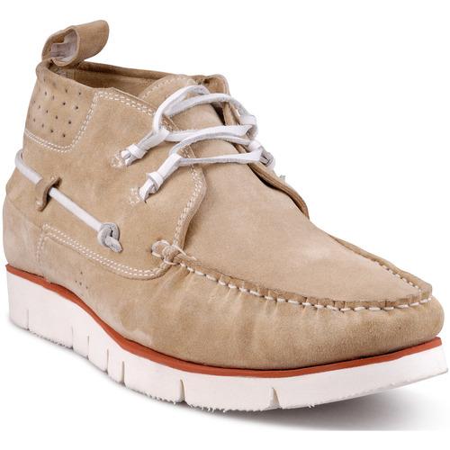 Chaussures Homme Baskets montantes Design Chaussures bateau Beige