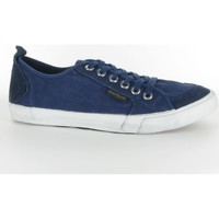 Chaussures Femme Baskets basses People'Swalk Fly suede canvas Bleu