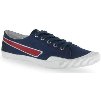Chaussures Femme Baskets basses People'Swalk Gas fine cotton Bleu