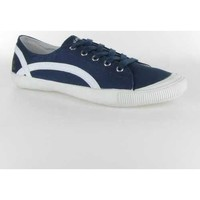 Chaussures Femme Baskets basses People'Swalk Gate fine cotton Bleu