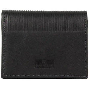 Sacs Homme Porte-monnaie David William Porte monnaie cartes en cuir  D5343 rainures striés Noir
