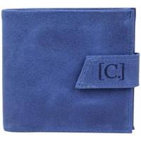 Sacs Homme Porte-monnaie C. By Claudia Luc Porte monnaie cuir brute Claudia Luc Fabrication France Bleu