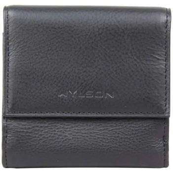 Sacs Homme Porte-monnaie Wylson Porte monnaie + billets cuir Noir