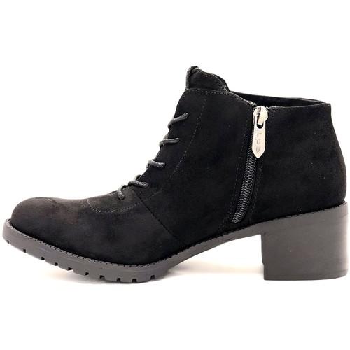 LPB Shoes Bottine 6-Giulia Noir Noir - Chaussures Boot Femme