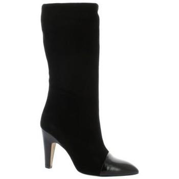 Chaussures Femme Bottes ville Fremilu Bottes cuir velours Noir
