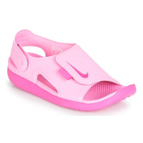 Chaussures Fille Sandales et Nu-pieds Nike SUNRAY ADJUST 5 Rose