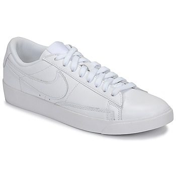 the best attitude 3341f 8a613 Chaussures Femme Baskets basses Nike BLAZER LOW LEATHER W Blanc