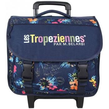 Sacs Fille Cartables Les Tropéziennes par M Belarbi Cartable à roues Tropéziennes 40cm motif fleur Wissant Bleu Bleu foncé