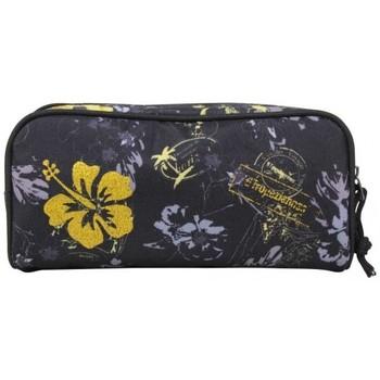 Sacs Fille Trousses Les Tropéziennes par M Belarbi Trousse Les Tropéziennes rectangle motif fleur Wissant Noir Multicolor