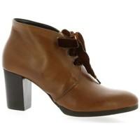 Chaussures Femme Bottes ville Denouée e Boots cuir Cognac