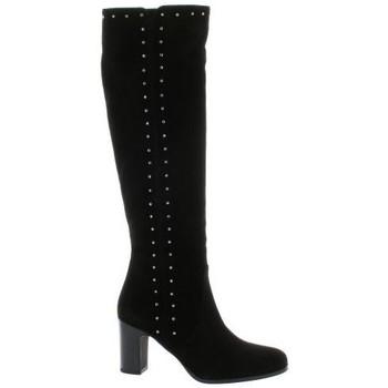 Chaussures Femme Cuissardes Fremilu Bottes cuir velours Noir